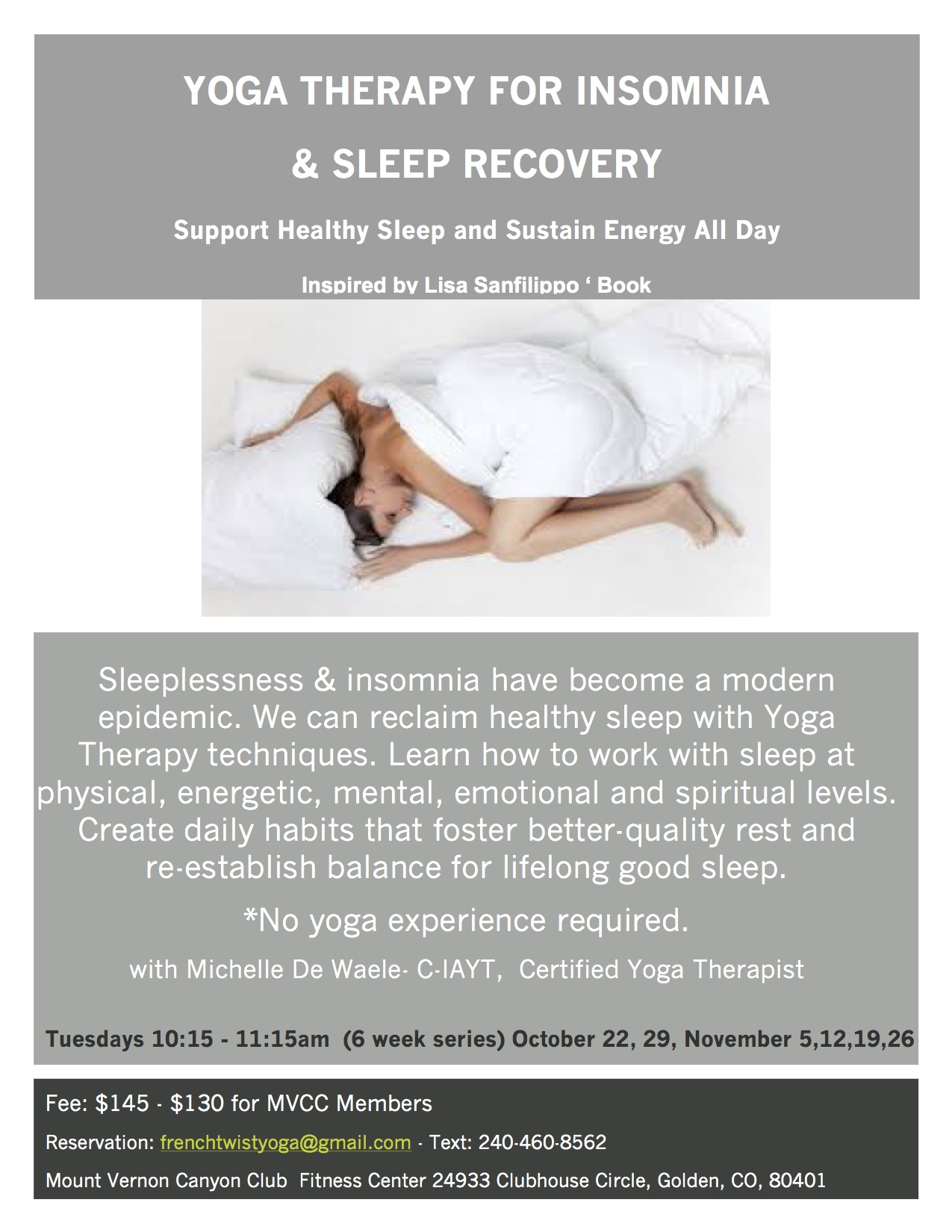 Yoga Therapy for Insomnia & Sleep Recovery